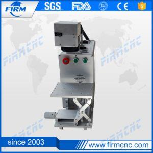 Máquina de marcado láser de fibra de plástico aluminio goma