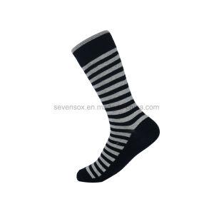 Les hommes de la haute qualité de l'équipage chaussettes de coton Jacquard