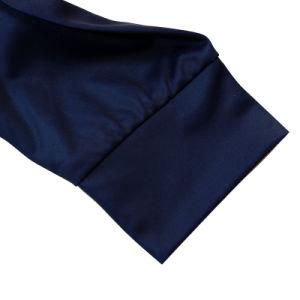 Camicia di polo lunga stampata calore del poliestere del manicotto di Healong