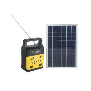 Nuevo generador solar 10W de Energía Solar de la luz de radio FM con 3W Lámpara Solar