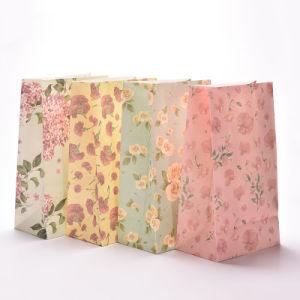 Flores de papel Bolsas de regalos de navidad de parte de la bolsa de galletas de fiesta