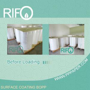 Flexo печать, синтетические бумаги, белый BOPP для топливного бака этикетки