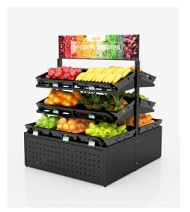 De Planken van de Vertoning van de Groente en van het Fruit van de supermarkt/de Plank van de Groente van het Fruit