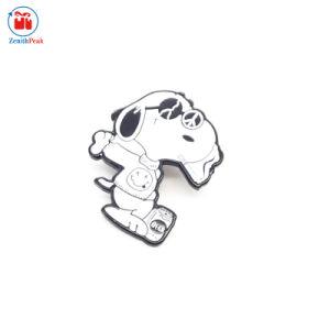 製造業者の中国のカスタム金属かわいい犬の形ペット折りえりPin
