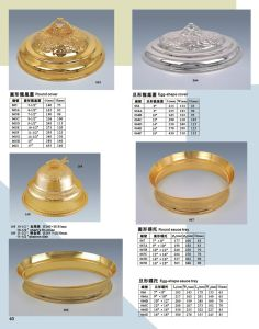 LuxuxGold und Silver Dish Cover für Hotel Banquet (XWF23-1)
