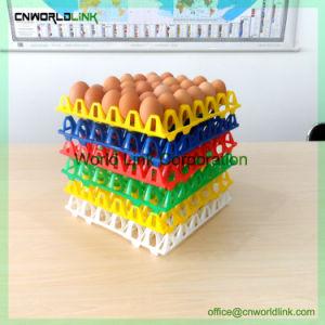 Nuevo diseño en movimiento huevo de apilamiento de plástico de 30 hoyos de la bandeja de Huevos