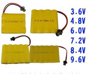 잔디 스크린 램프를 위한 Ni CD 건전지 팩 AA700mAh 3.6V