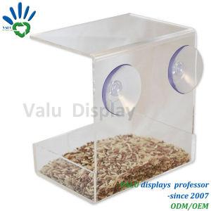 Alimentatore selvaggio acrilico dell'uccello della finestra libera con le tazze di aspirazione