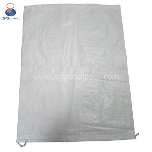Durável 50kg saco de tecido PP branco para farinha de grãos de arroz