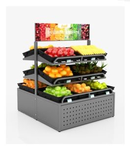 슈퍼마켓 야채와 과일 전시 선반 또는 과일 야채 선반