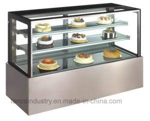 vitrina de bolos frigorífico para o Café Pizza, pão, bolos, Padaria