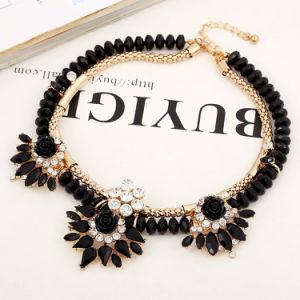 Mode collier artisanal acrylique Gemstone fleur