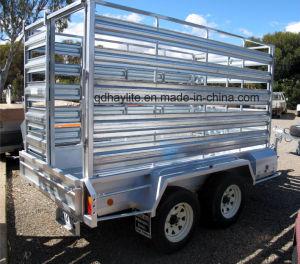 De populaire Tippende Aanhangwagen van het Landbouwbedrijf van de Doos van het Krat van het Vervoer van het Vee van het Vee