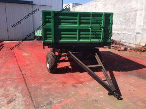 De Aanhangwagen van de Stortplaats van de Tractor van het landbouwbedrijf met de Aanhangwagen van de Hydraulische Macht