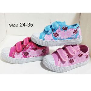 Nuevo estilo de los niños de la inyección de cinta mágica Sneakers Zapatos Zapatos de lona (HH1810-1)