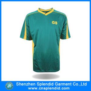 Calcio blu Jersey della camicia di pallacanestro dell'indumento con superiore