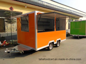移動式通りのアイスクリームの食糧カートか軽食の販売のカート
