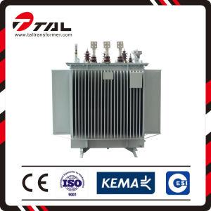 Type immergée de l'huile du transformateur de tension électrique de distribution de puissance