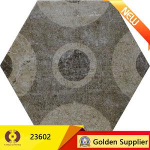 Tegel van de Bevloering van het Decor van het Huis van rustieke Tegels de Ceramische Hexagon voor Muur of Vloer (23600)