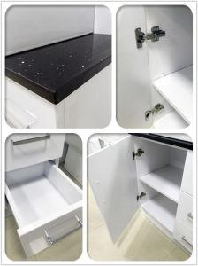 Weiße Glanz MDF-Badezimmer-Eitelkeit (SK6027-600W)
