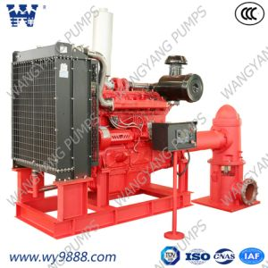 Дизельный двигатель Линия вертикального вала турбины пожарный насос установлен