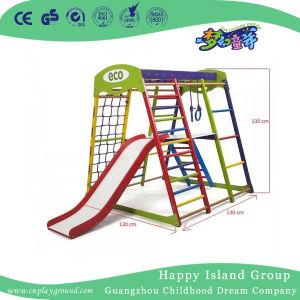 A formação líquida de escalada pequeno parque infantil com deslize
