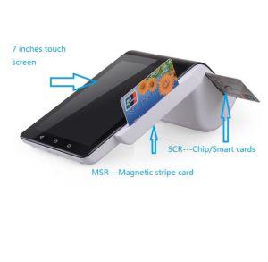 Browseing Positions-Terminal zwar WiFi 4G mit Kartenleser-und Screen-Griffs-Drucker PT7003 der Scheckkarte-NFC EMV Mfire