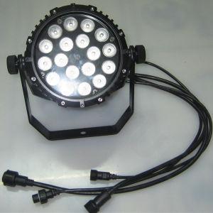 DJのディスコ18X18W DMXの同価のRgbwauvの段階ライト