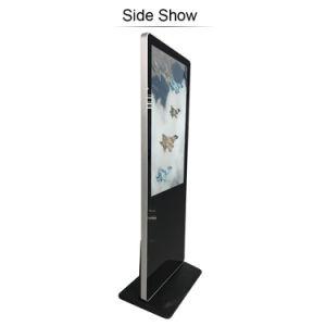 Rede de vídeo Full HD player de mídia de publicidade de chão com SO Windows Android quiosque digital