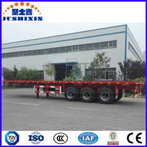 Tri-Welle 60 Flachbett-Behälter-Sattelschlepper der Tonnen-40FT