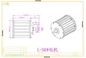 Gerador de ímã permanente de energia livre 5kw 96V/120V/220V para a venda
