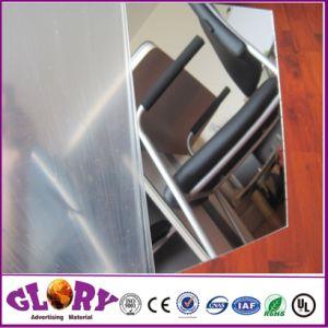 De doble cara de plástico acrílico de plata de hoja de espejo para mostrar al aire libre