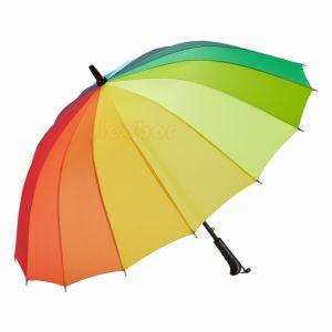 16K多彩な虹雨傘