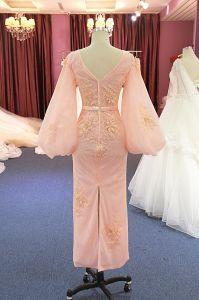 De roze Kleding van de Cocktail party van Prom van de Avond van de Koker van het Kant van het Lovertje Lange