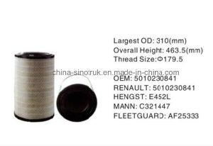 Продажи нефти с возможностью горячей замены воздушного фильтра воды OEM 5001865404 для автомобилей Renault