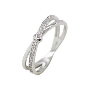 925 Steling CZ joyas de plata dedo anillo, libres de plomo y níquel (KR3229)