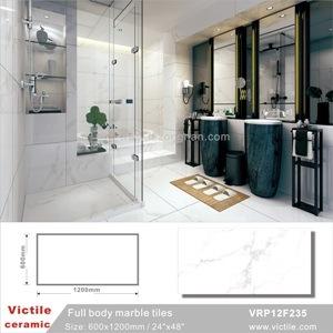 Tegel van de Vloer van het Porselein van het Lichaam van Carrara de Witte Volledige Antislip Verglaasde (VRP12F235)