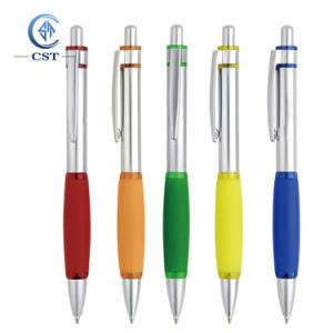 Penna a sfera di plastica di promozione su ordinazione per la pubblicità (regalo promozionale)