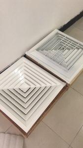 Aluminiumlegierung-Quadrat-Decken-Luft-Diffuser (Zerstäuber) mit Puder überzogenes Ral9016
