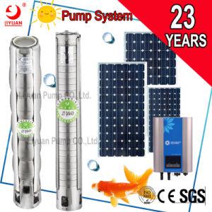4  ss haute pression moteur submersible de puits profond de la pompe de forage solaire