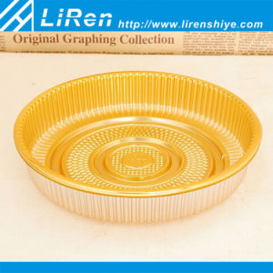 Gran Golden PP Palstic Blister bandeja redonda para el envasado de tortas