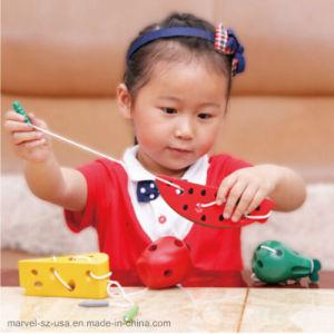 Les fruits Fromage Thread bébé Jouets Jouets en Bois d'apprentissage de l'éducation