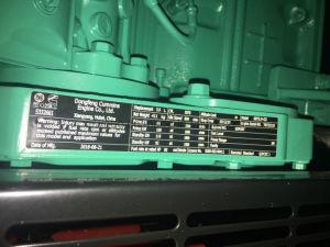 40kw 50kVA防音のCumminsのディーゼル発電機