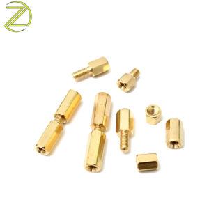 Laiton de cuivre de précision CNC Standoff manchon d'écartement pilier de filetage en acier à tête hexagonale de l'écrou du manchon