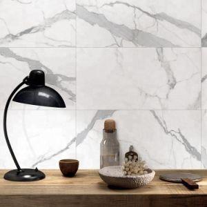 De Witte Opgepoetste Verglaasde Tegel van Carrara voor Muur en Keuken
