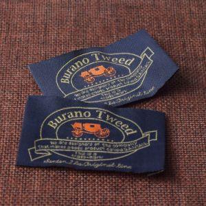 Una buena calidad de la costura personalizados Etiquetas tejidas para tapa de los pantalones
