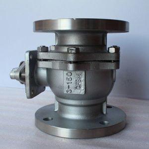 Il acciaio al carbonio di JIS 10k Wcb ha flangiato valvola a sfera manuale di galleggiamento