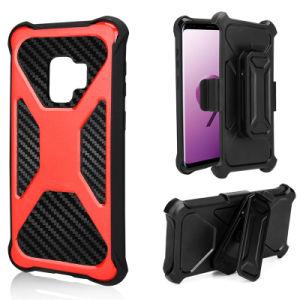 iPhoneまたはSamsungのためのベルトが付いている卸し売り頑丈な移動式ケースの携帯電話の裏表紙