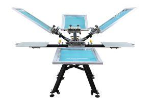 Macchina del torchio tipografico della macchina da stampa della matrice per serigrafia di 4 di colore 4 delle stazioni Digitahi della maglietta (NS404-MR)