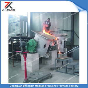 200kg médio do forno de fusão por indução de frequência para o cobre/Fundição de aço
